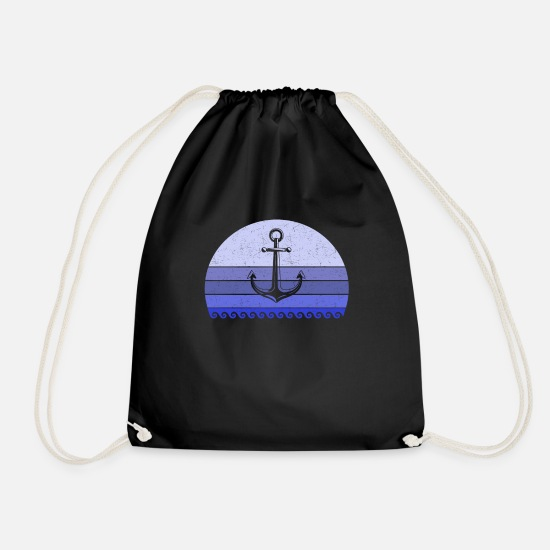 Travel Bags & Backpacks - Coast Sea Anchor Vintage - Drawstring Bag black
