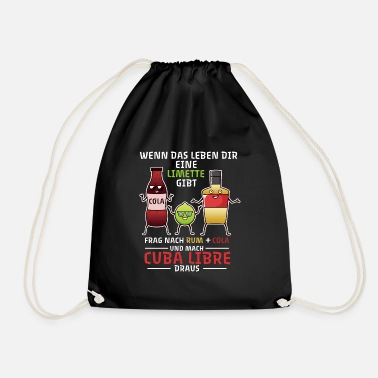 Alcohol Cocktail Cuba Libre Say Life Longdrink - Drawstring Bag