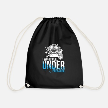 Mask Work well under pressure - diving - Drawstring Bag