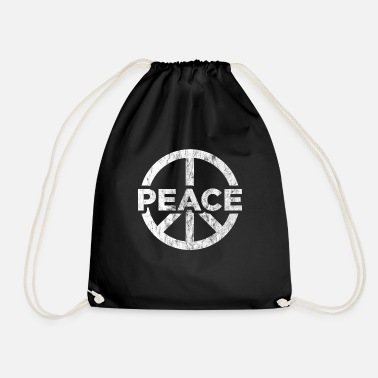 Global Peace Peace globalization peace sign - Drawstring Bag