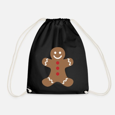 Man Gingerbread man - Drawstring Bag