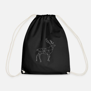 Deer, deer pattern white - Drawstring Bag