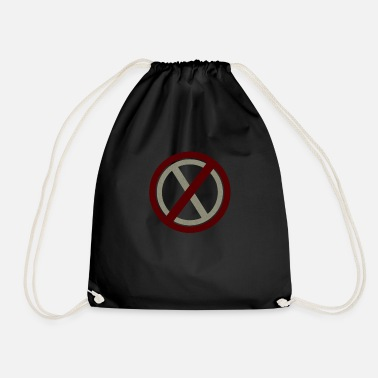 Prohibition Prohibitions prohibit warning signs and signs - Drawstring Bag