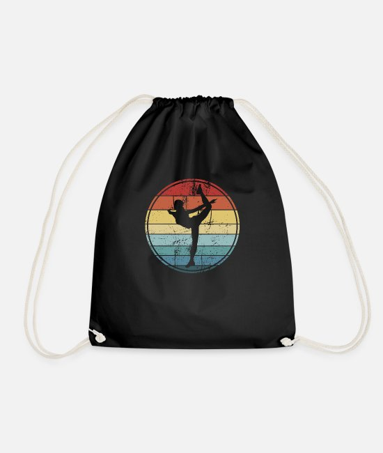 Ballet Dancer Bags & Backpacks - Dancer dancing ballerina - Drawstring Bag black