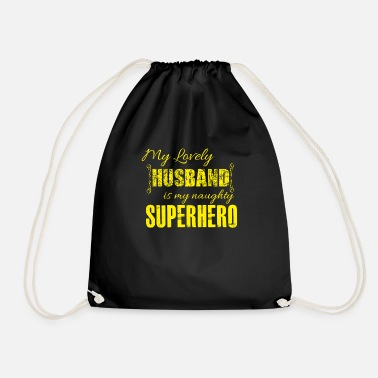 Husband Husband Husband Superhero - Drawstring Bag