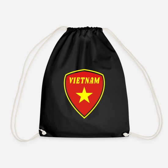 Gift Idea Bags & Backpacks - Vietnam Coat of Arms Gift Hanoi Southeast Asia Asia - Drawstring Bag black