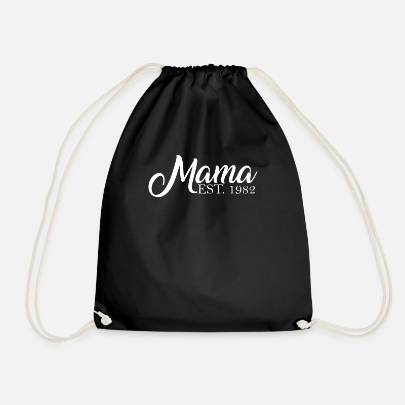 Established Bags & Backpacks - Mama established 1982 - Drawstring Bag black