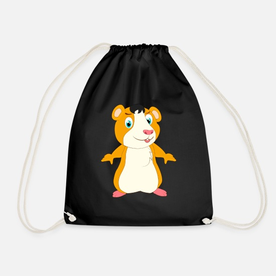 Pet Bags & Backpacks - Hamster hamster hamster hamster hamster - Drawstring Bag black