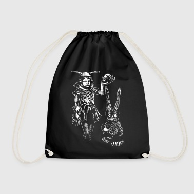 Girl and gnome - Drawstring Bag