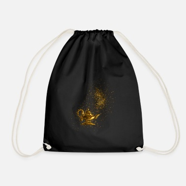 Aladdin Arabic gilt golden - gold - Drawstring Bag