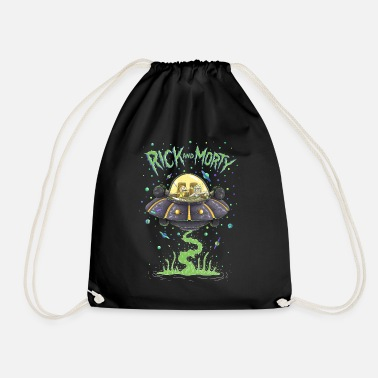 Rick And Morty Spaceship Illustration - Drawstring Bag