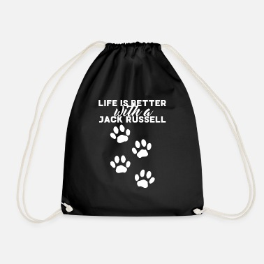 Dog / Jack Russell: Life Is Better With A Jack - Drawstring Bag