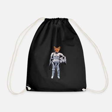 Stencil Fox Storm Trooper - Drawstring Bag
