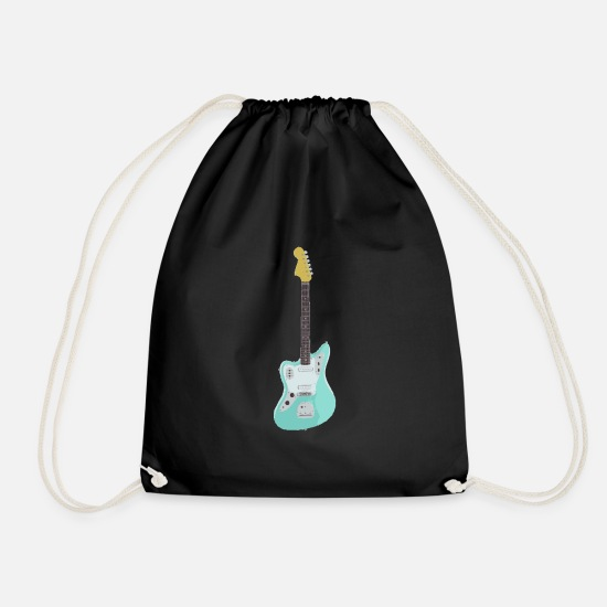 Guitar Bags & Backpacks - Electric guitar T-shirt Fender Jaguar - Drawstring Bag black