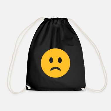 Unhappy sad, unhappy face - Drawstring Bag