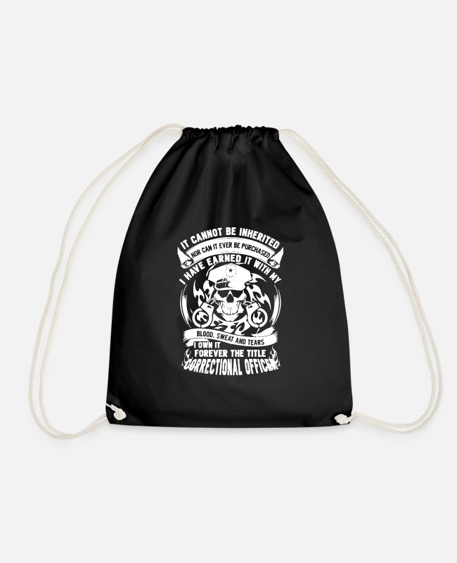 Correctional Officer Bags & Backpacks - Correctional Officer Shirt - Drawstring Bag black