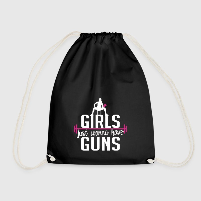 girls just wanna have guns - Drawstring Bag