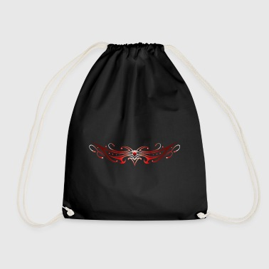 Ornement tribal de tatouage. Rouge. - Sac de sport léger