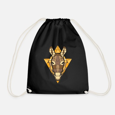 Triangle Polygon type donkey horse mule - Drawstring Bag