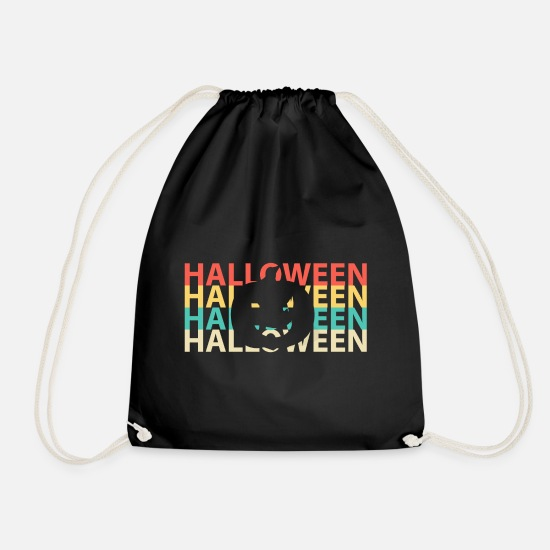 Gift Idea Bags & Backpacks - Scary Halloween scary - Drawstring Bag black