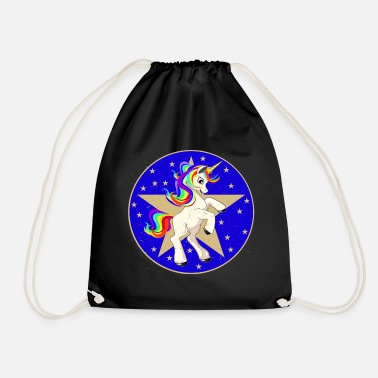 Poinsettia Unicorn Poinsettia Poinsettia Unicorn - Drawstring Bag