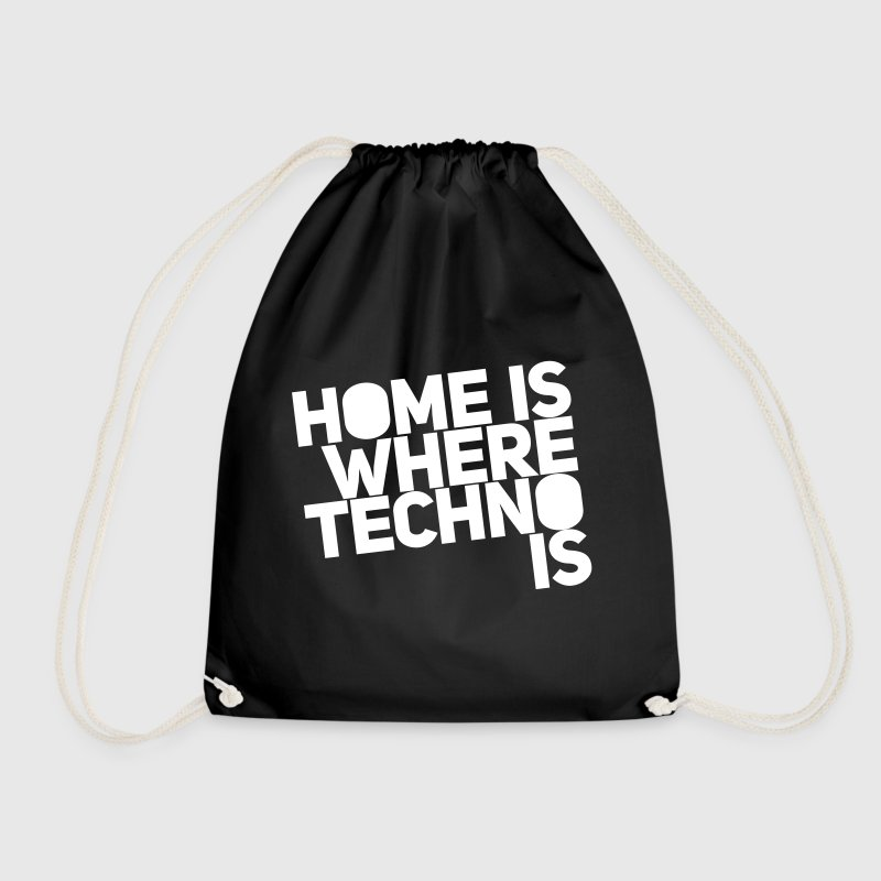 Home is where techno is Club DJ Berlin - Turnbeutel
