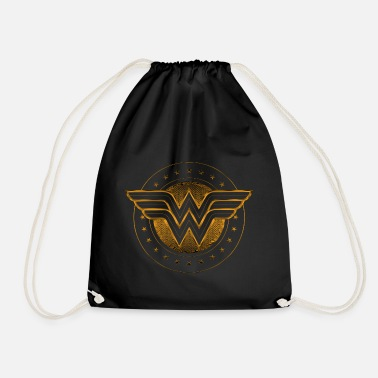 Logo Wonder Woman Comic Logo gold - Turnbeutel