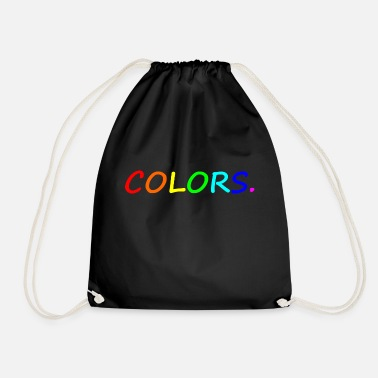Colorful COLORS / colors / colorful / rainbow - Drawstring Bag