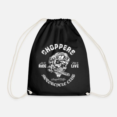 Chopper Choppers Moto Vintage Club Skull - Sac à dos cordon