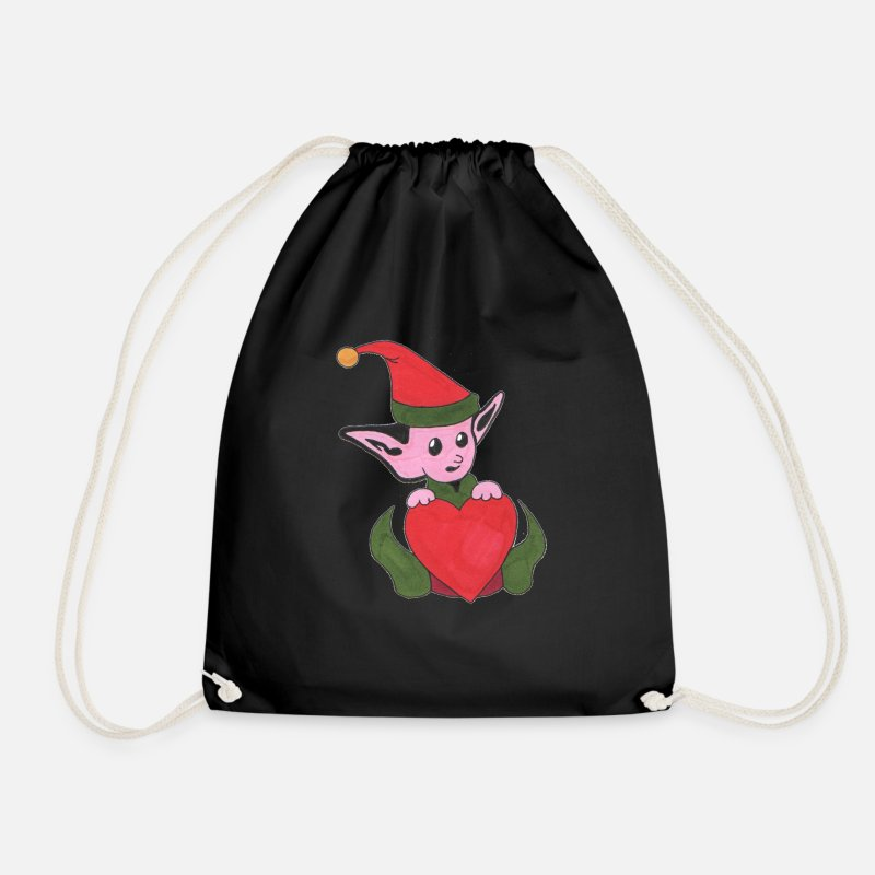 Cuddly Bags & Backpacks - The goblin of love - Drawstring Bag black
