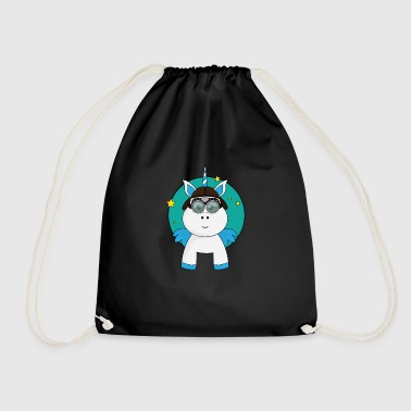 Asterisk unicorn - Drawstring Bag