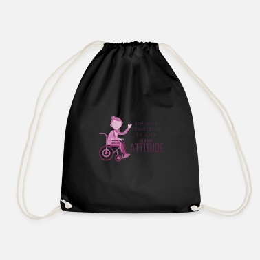 Funny Wheelchair driver great saying - Drawstring Bag