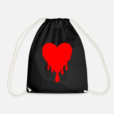 Drip dripping heart - Drawstring Bag