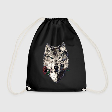 Wolf, wolves, animal, wild, blue eyes, rose - Sac de sport léger