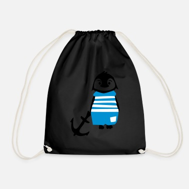 South Pole South pole penguin & anchor - Drawstring Bag