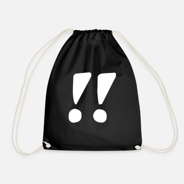 Exclamation Mark Exclamation mark exclamation mark - Drawstring Bag