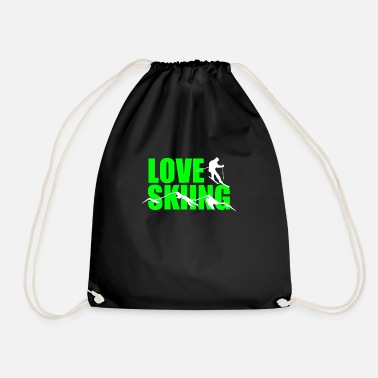 Ski For Love skiing - Drawstring Bag