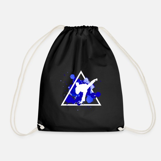 Karate Bags & Backpacks - karate - Drawstring Bag black