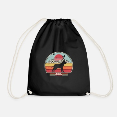 Blood Bloodhound Product. Retro Style Print - Drawstring Bag