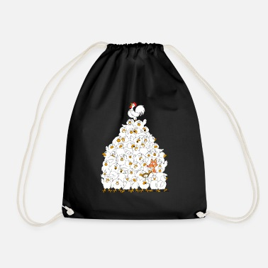 Chicken bunch of chickens - Drawstring Bag
