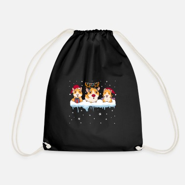 Present Christmas Funny Cute Pigs Winter Holiday Gift - Drawstring Bag