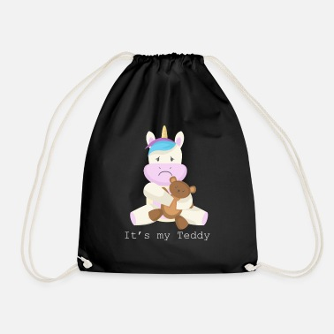 Triest Teddy Bear Unicorn Magical Sad Gift - Gymtas