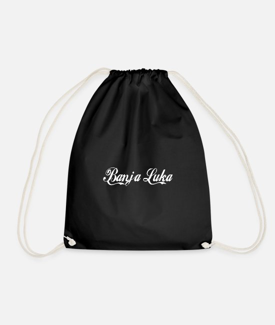 Bosnia Bags & Backpacks - Banja Luka - Drawstring Bag black