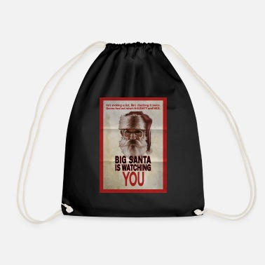 Big Santa is Watching You - Drawstring Bag