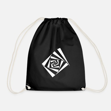 Optical Illusion Optical illusion illusion hallucination - Drawstring Bag