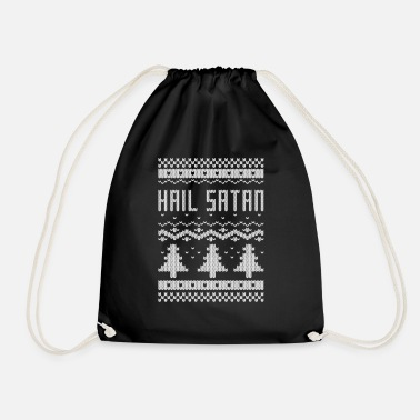 Satan christmas hail satan - Drawstring Bag