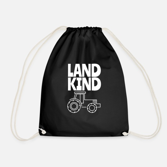 Field Bags & Backpacks - Landkind - children from the country are the best - Drawstring Bag black