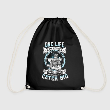 The proud angler - Black Edition - Drawstring Bag