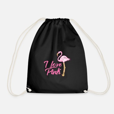 Lila Cadeau Flamants roses Animaux Tendance Flamingo Pink Bird Trend - Sac à dos cordon