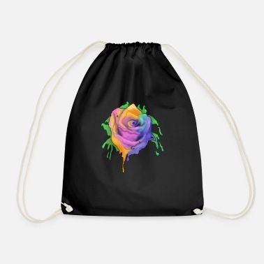 Rainbow Rose - Sac à dos cordon
